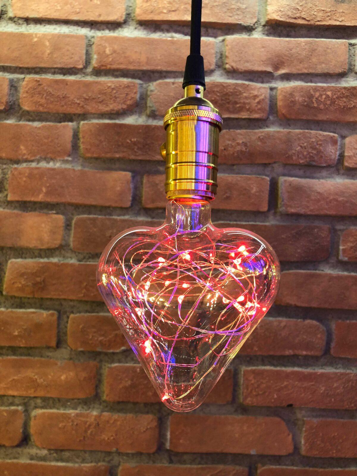 Kalp 2W Led Ampul (Kırmızı)