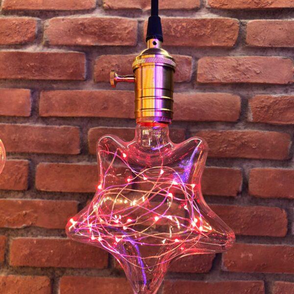 Yıldız 2W Led Ampul (Kırmızı)
